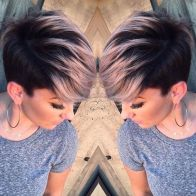 Cool short pixie ombre hairstyle ideas 27