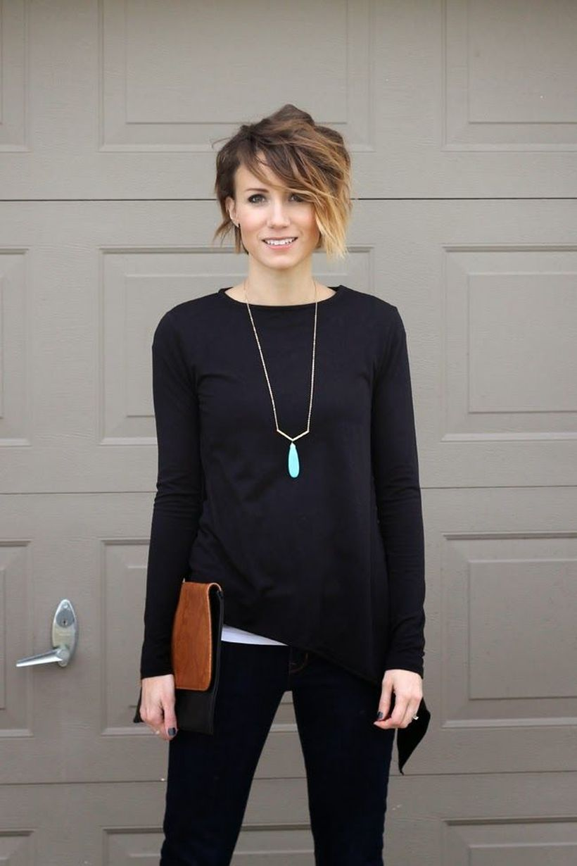 Cool short pixie ombre hairstyle ideas 34