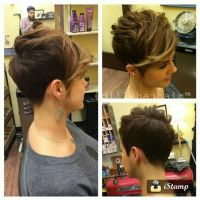 Cool short pixie ombre hairstyle ideas 8
