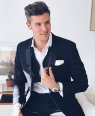 Elegant men's formal wear with tuxedo and suits 10
