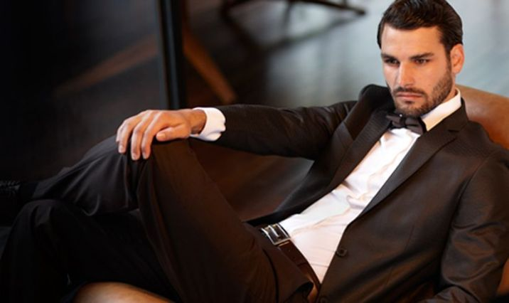 Elegant men's formal wear with tuxedo and suits 142