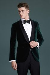 Elegant men's formal wear with tuxedo and suits 2