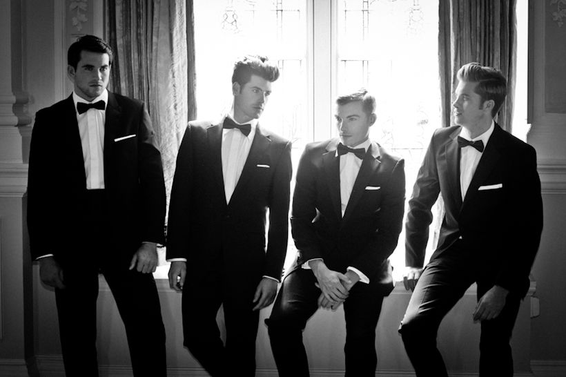 Elegant men's formal wear with tuxedo and suits 27