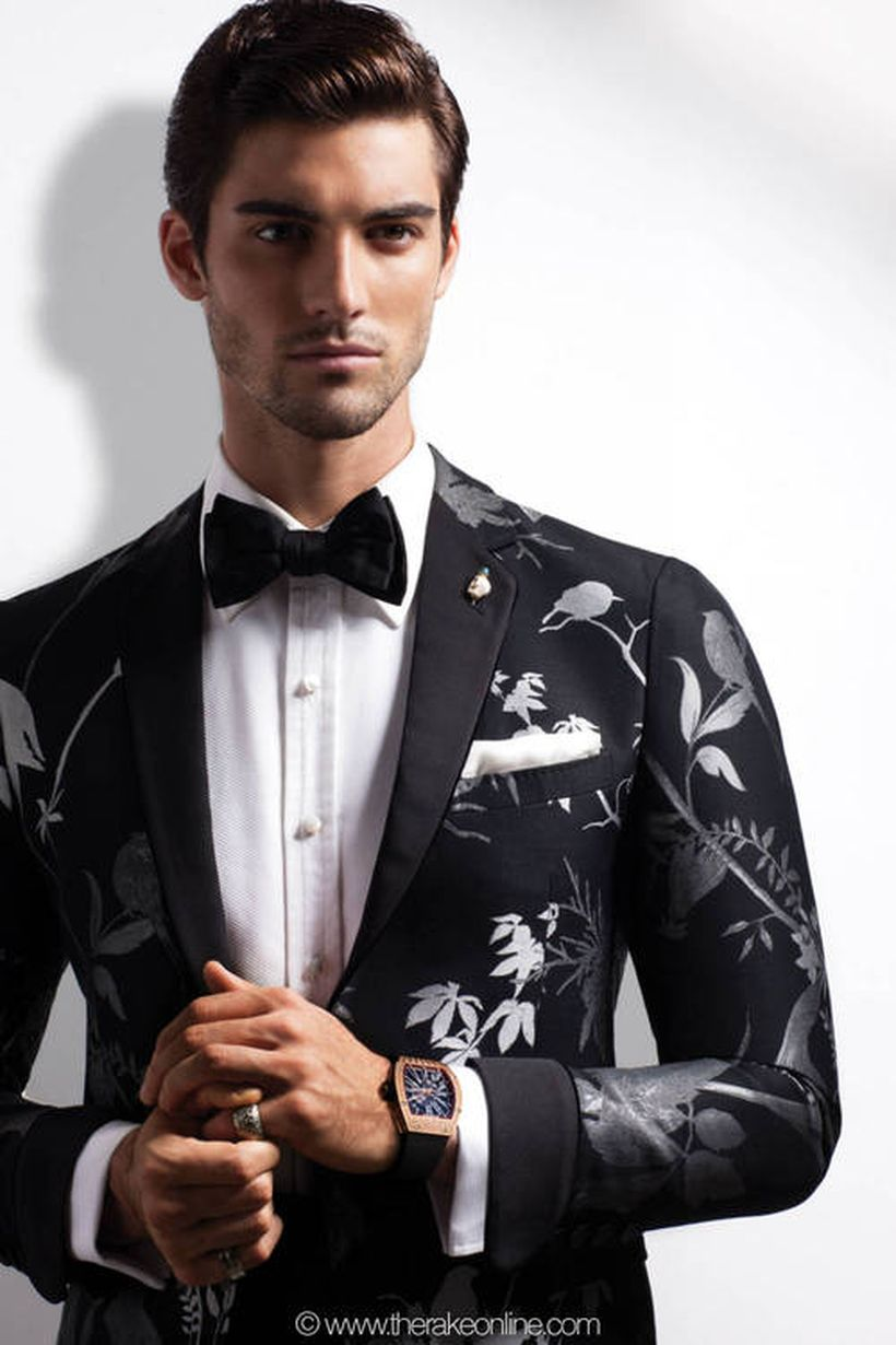 Elegant men's formal wear with tuxedo and suits 39