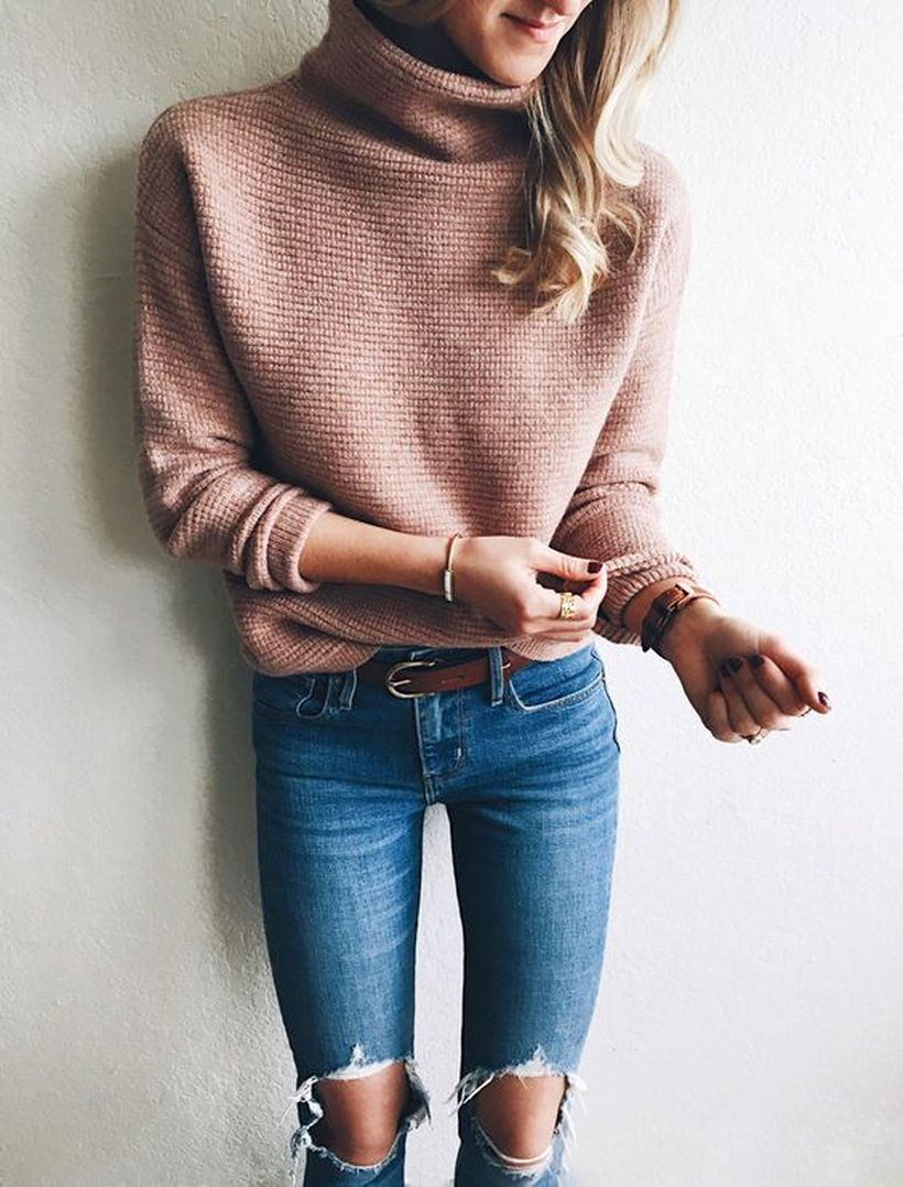 Fashionable outfit style for winter 2017 33