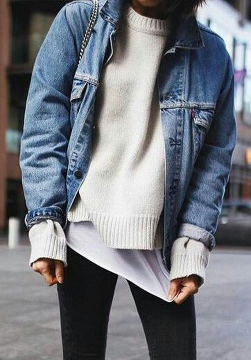 Fashionable outfit style for winter 2017 46
