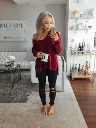 Fashionable outfit style for winter 2017 54