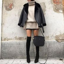 Fashionable outfit style for winter 2017 82