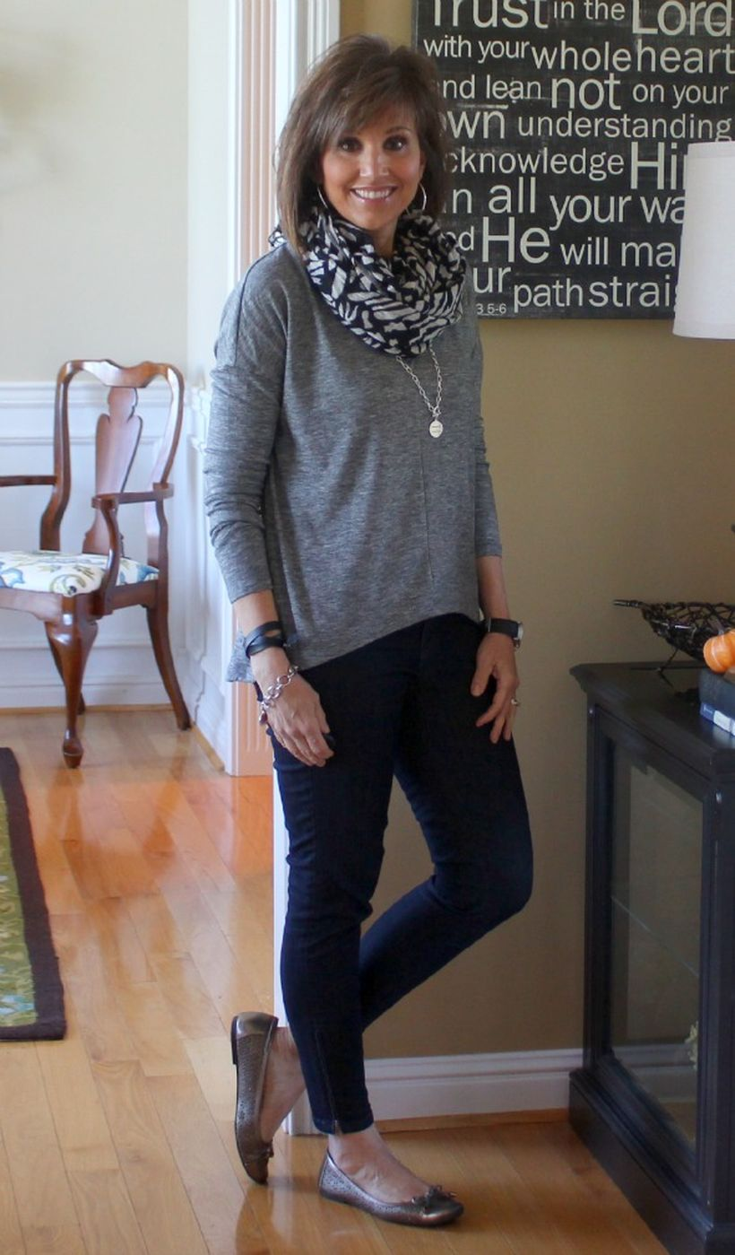 Fashionable over 50 fall outfits ideas 64