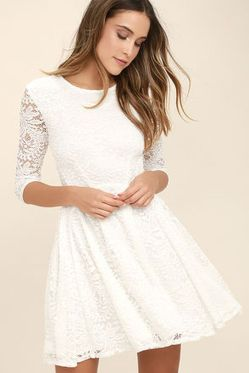 Most cute short white dresses outfits design ideas 18