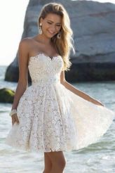 Most cute short white dresses outfits design ideas 22