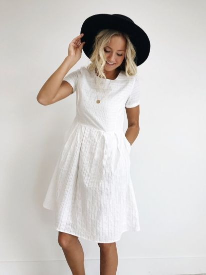 Most cute short white dresses outfits design ideas 23