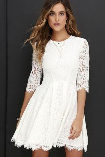 Most cute short white dresses outfits design ideas 27