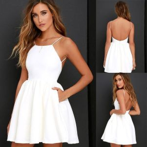 Most cute short white dresses outfits design ideas 29