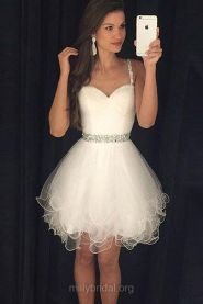 Most cute short white dresses outfits design ideas 47
