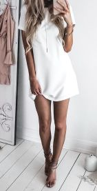 Most cute short white dresses outfits design ideas 48