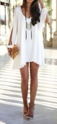Most cute short white dresses outfits design ideas 64