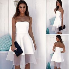 Most cute short white dresses outfits design ideas 65