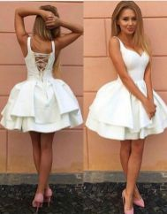 Most cute short white dresses outfits design ideas 67