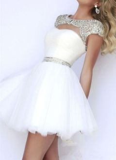 Most cute short white dresses outfits design ideas 7