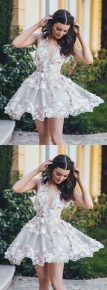 Most cute short white dresses outfits design ideas 72