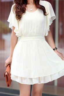 Most cute short white dresses outfits design ideas 8