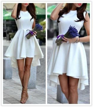Most cute short white dresses outfits design ideas 81