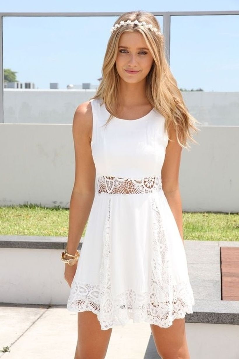 Most cute short white dresses outfits design ideas 87