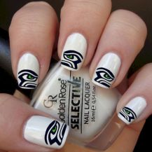 Seahawks nails design 01