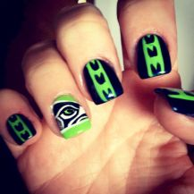 Seahawks nails design 03