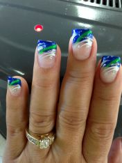 Seahawks nails design 06