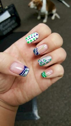 Seahawks nails design 31