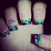 Seahawks nails design 32