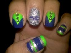 Seahawks nails design 47