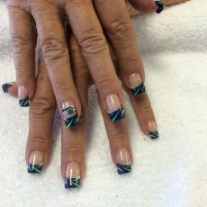 Seahawks nails design 48
