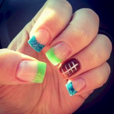 Seahawks nails design 49
