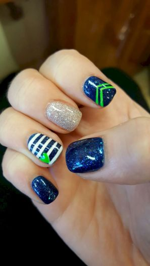 Seahawks nails design 51