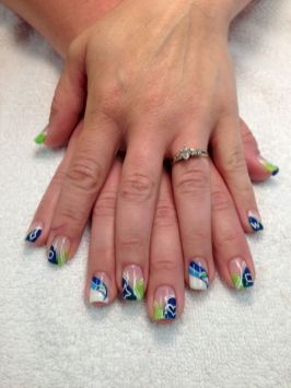 Seahawks nails design 59