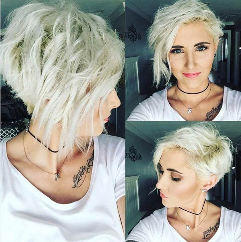 Short messy pixie haircut hairstyle ideas 49