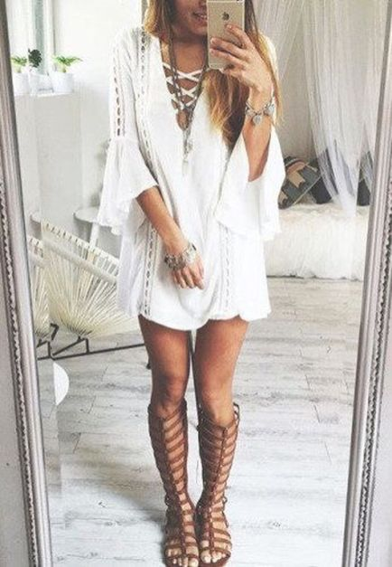 Stylish bohemian boho chic outfits style ideas 1