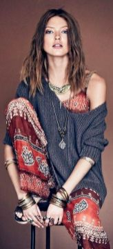 Stylish bohemian boho chic outfits style ideas 100