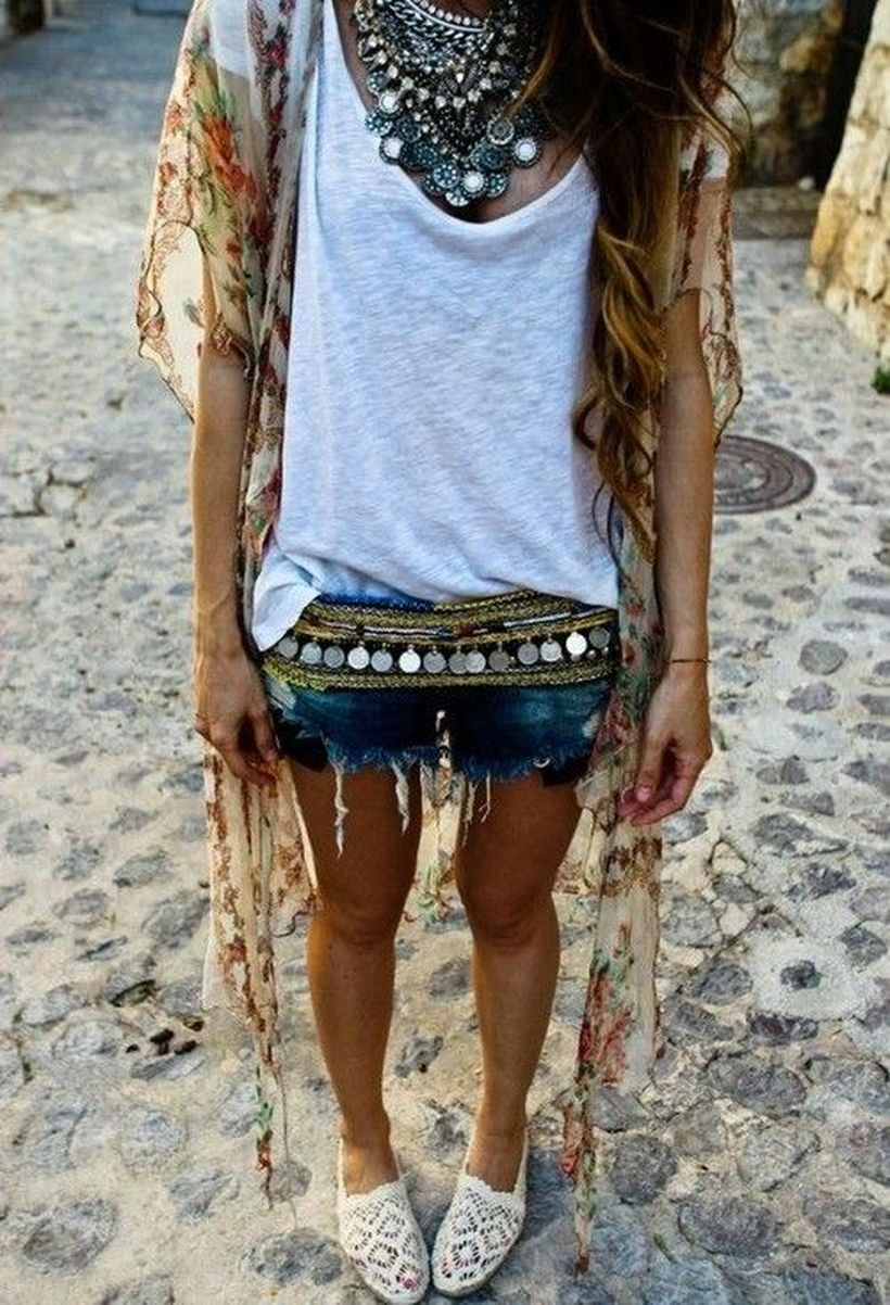 Stylish bohemian boho chic outfits style ideas 104