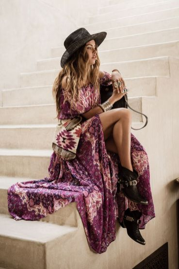 Stylish bohemian boho chic outfits style ideas 20