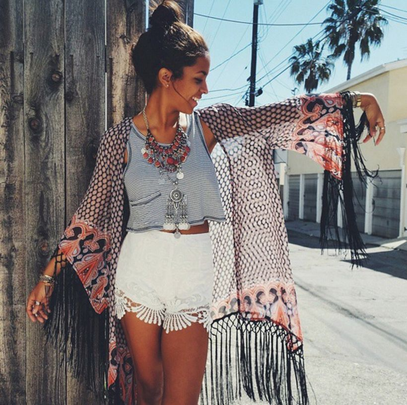 Stylish bohemian boho chic outfits style ideas 27