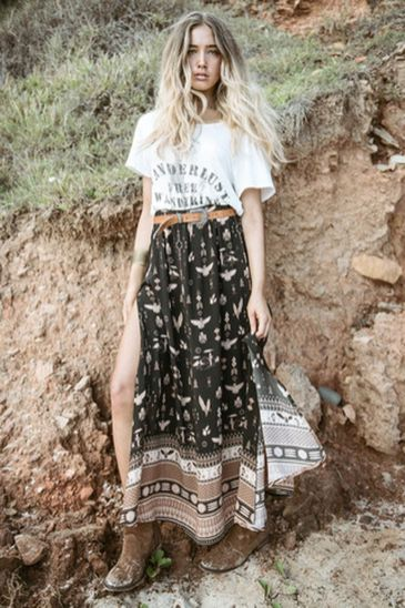 Stylish bohemian boho chic outfits style ideas 46