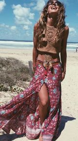 Stylish bohemian boho chic outfits style ideas 48