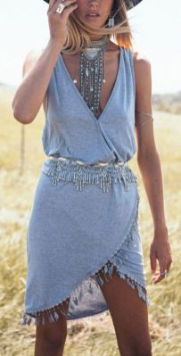 Stylish bohemian boho chic outfits style ideas 53