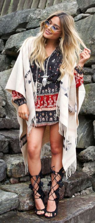 Stylish bohemian boho chic outfits style ideas 99