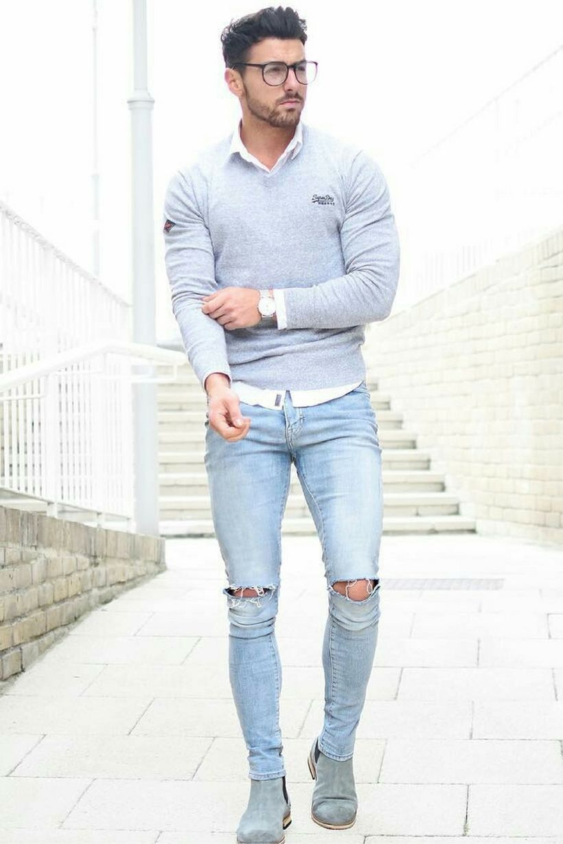 Stylish men's jeans outfits ideas in 2017 27