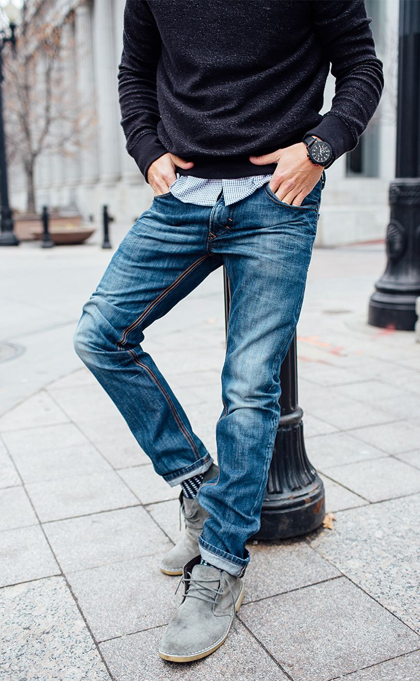 Stylish men's jeans outfits ideas in 2017 34